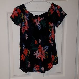 Old Navy Flowered Shirt